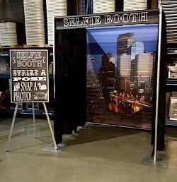 selfie booth. Black Bedroom Furniture Sets. Home Design Ideas